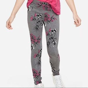 NWT Justice Floral Leggings 10